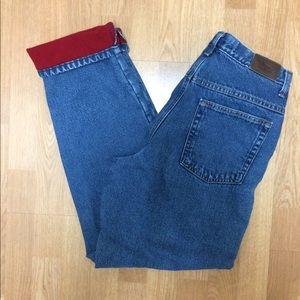 L L Bean fleece lined jeans